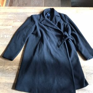 GAP Black Wool Maternity Peacoat